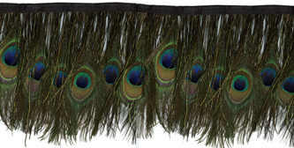 peacock eyes with flue feather fringe