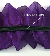 purple organza flower detail