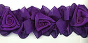 organza flower trim in purple