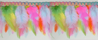 pastel long feather fringe