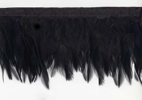 Black Raven Feather Trim Fringe