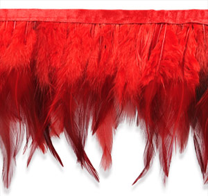 red feather fringe