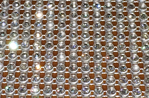 crystal table runner