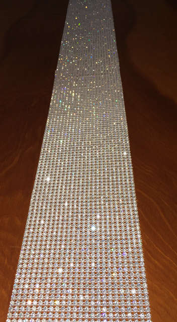Delicieux Rhinestone Table Runner. Crystal Table Runner