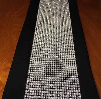 rhinestone table runner overlay