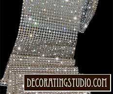 rows of rhinestone banding