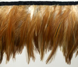 light russet feather fringe