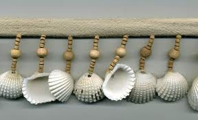 seashell trim shells on the beach fringe