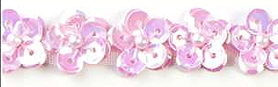 light pink sequin flower trim