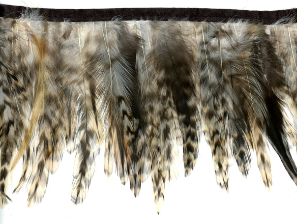 city jungle feather trim fringe