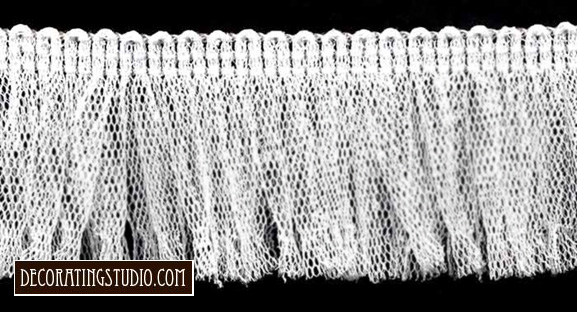 Decorating Studio White Tulle Fringe Trim