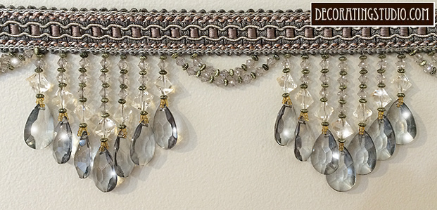 platinum beaded fringe