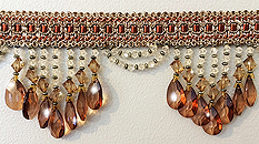 amber venice beaded fringe trim