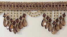 brown venice beaded trim