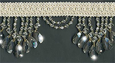 crystal venice beaded fringe trim