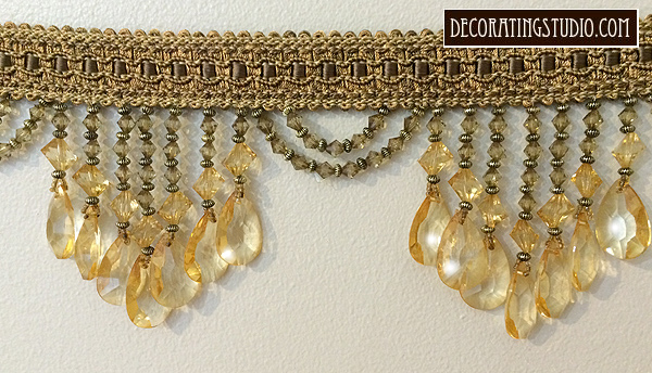 pale gold venice beaded trim