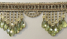 green venice beaded fringe trim