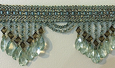 ocean blue venice beaded fringe trim