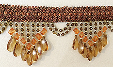 terra cotta venice beaded fringe home decor