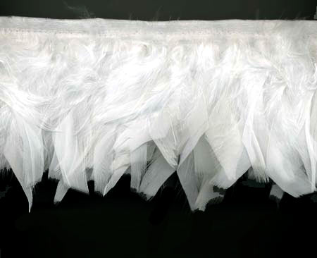 White Diva Feather Trim