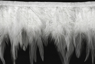white feather wings fringe