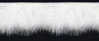 white marabou feather trim on binding