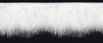 White Marabou Feather Trim On Binding