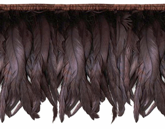 iridescent brown feather fringe