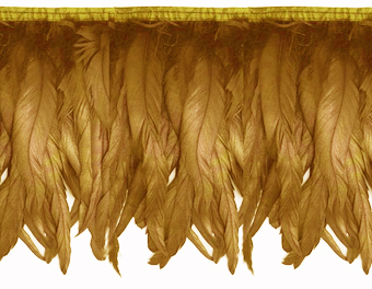 iridescent gold feather fringe