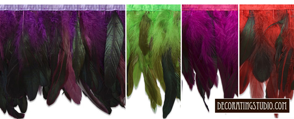 ombre feather fringe