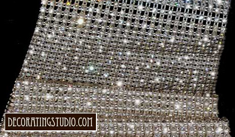 rhinestone table runner overlay rental