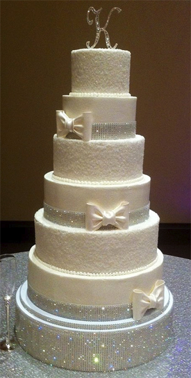 wedding cake crystal banding