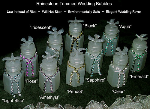 Rhinestone Wedding Bubble Bottles Easy Diy Project Idea