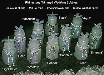 rhinestone wedding bubbles