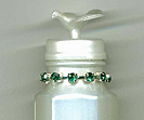 wedding bubbles decorated with rhinestone trim