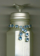 decorated rhinestone wedding bubbles