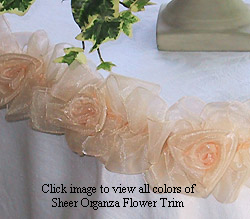 organza wedding table decoration