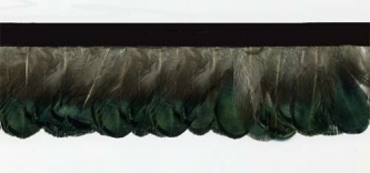 """Cafe au Lait"" Feather Trim - Yard(s) - Product Image"