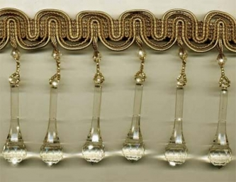 """Venetian Pendant Taupe"" Beaded Trim - Yard(s) - Product Image"