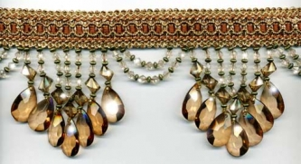 "Venice ""Amber"" Beaded Fringe yard(s) - Product Image"