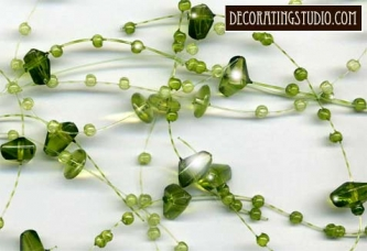 Verde Green Beaded Garland - Product Image