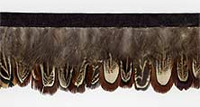 """Polka Dot Bright"" Feather Trim Sample - Product Image"