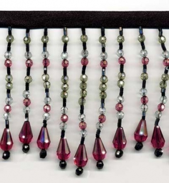 "Chic Beaded Fringe - ""Ruby Nights"" yard(s) - Product Image"