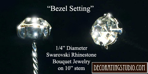 "Crystal ""Bezel"" Set of 6 Bouquet Jewelry Accents (set/6) - Product Image"