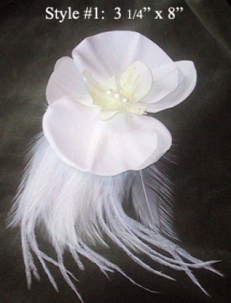 Flower & Feather Pin - Product Image