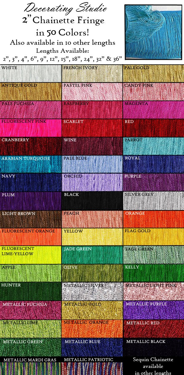 "2"" Rayon Chainette Fringe Yard(s) - Product Image"