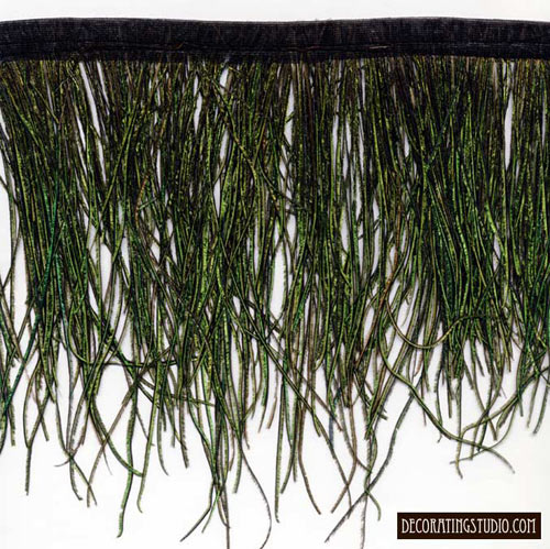 """Peacock Flue Feather Fringe"" - 5 Yard Bolt - Product Image"