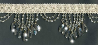 "Venice ""Crystal"" Beaded Fringe - sample - Product Image"