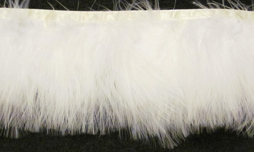 """White Cloud"" Marabou Feather Trim - sample - Product Image"