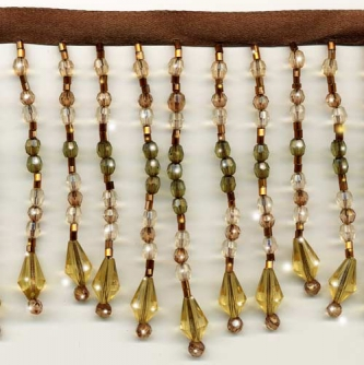"Chic Beaded Fringe - ""Golden Jewels"" yard(s) - Product Image"